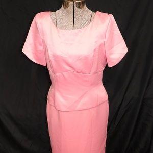 Classic peach gown Sz 12 (GG0567)